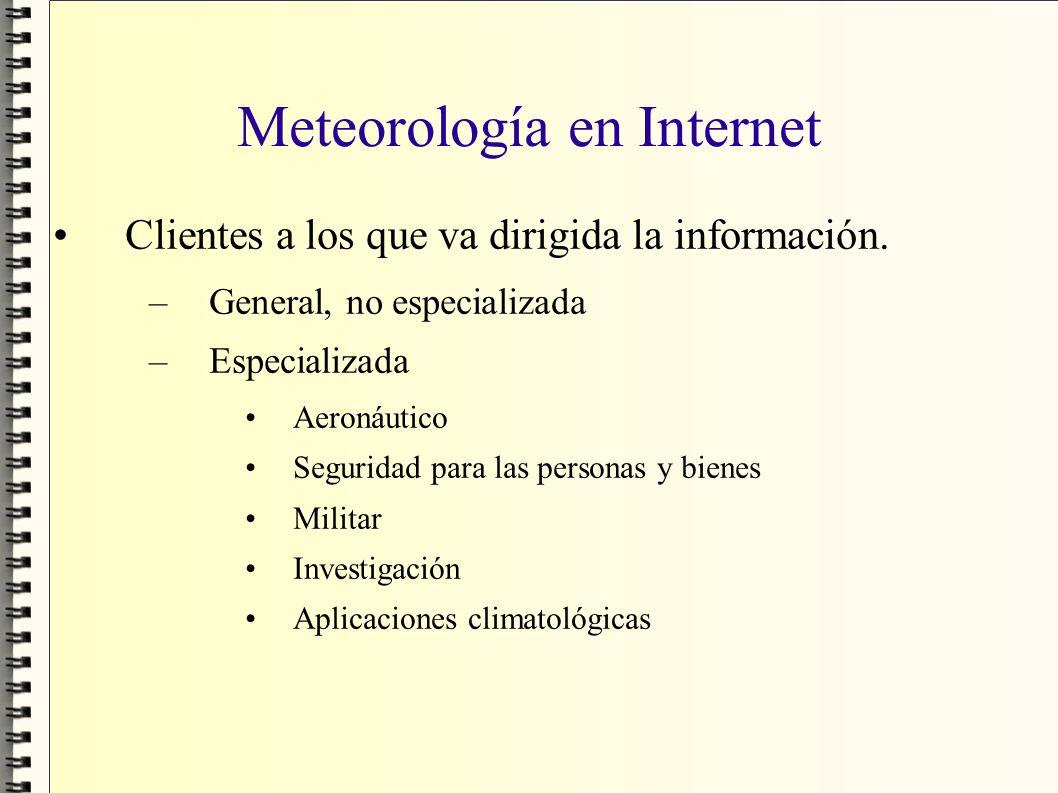 Meteorología en Internet
