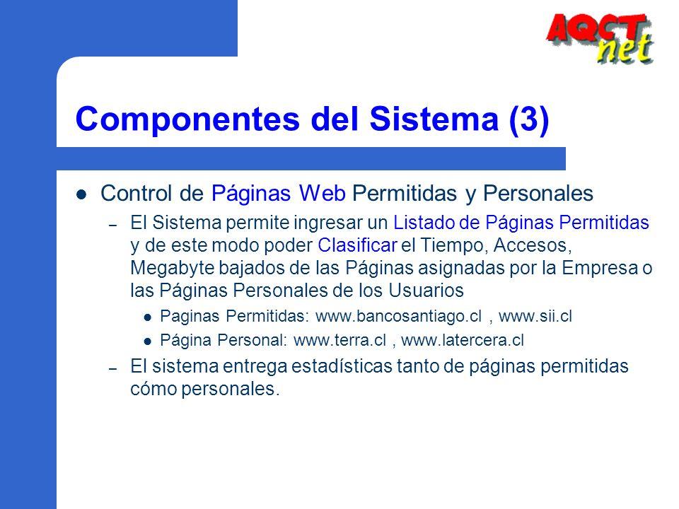 Componentes del Sistema (3)