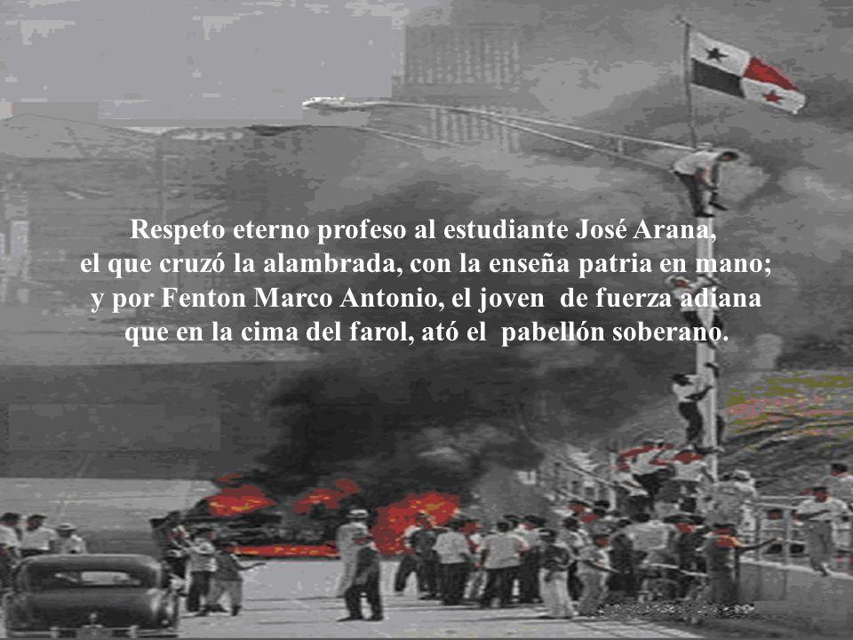 Respeto eterno profeso al estudiante José Arana,