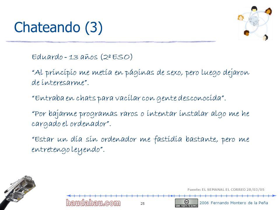Chateando (3) Eduardo - 13 años (2º ESO)