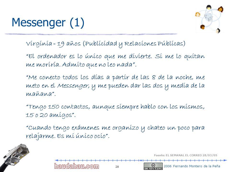 Messenger (1) Virginia - 19 años (Publicidad y Relaciones Públicas)