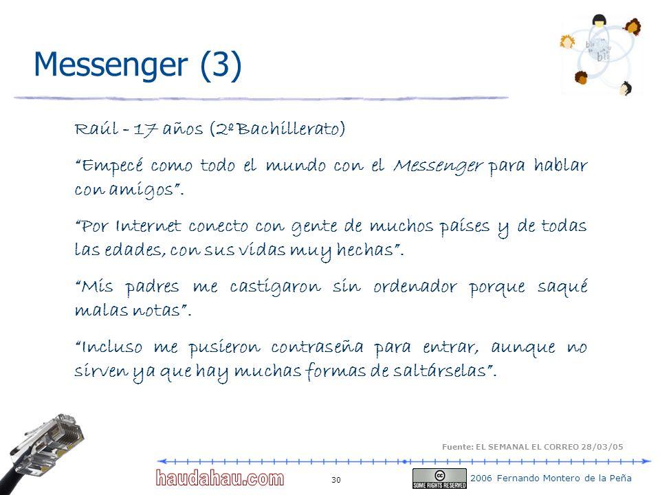 Messenger (3) Raúl - 17 años (2º Bachillerato)