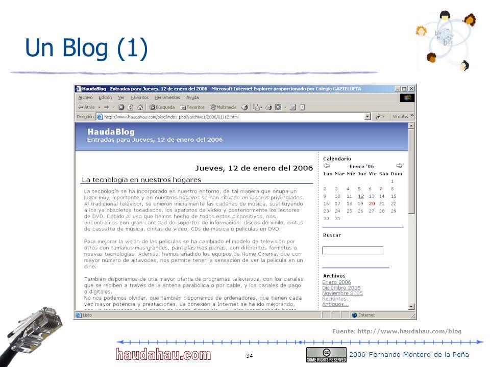 Un Blog (1) Fuente: http://www.haudahau.com/blog