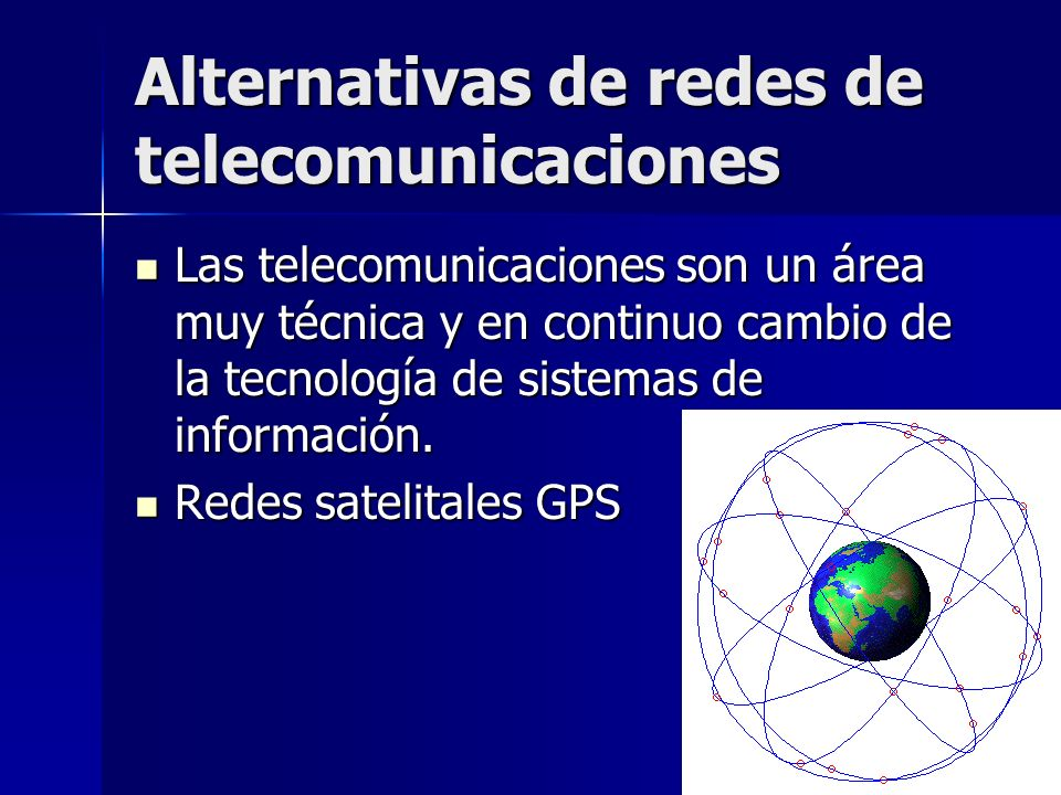 Alternativas de redes de telecomunicaciones