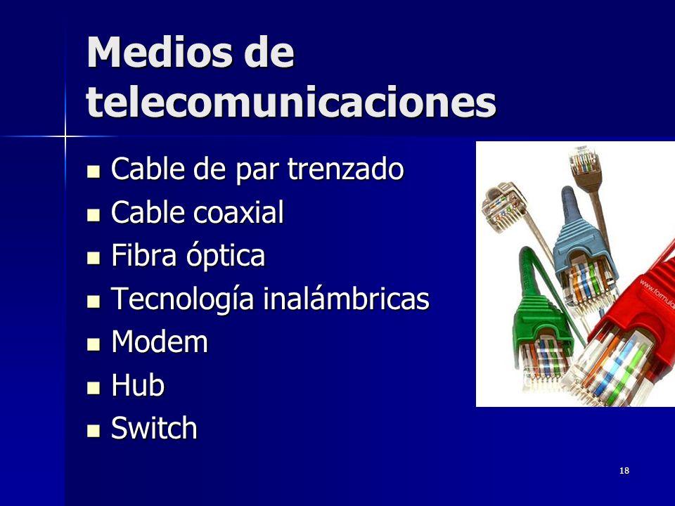 Medios de telecomunicaciones