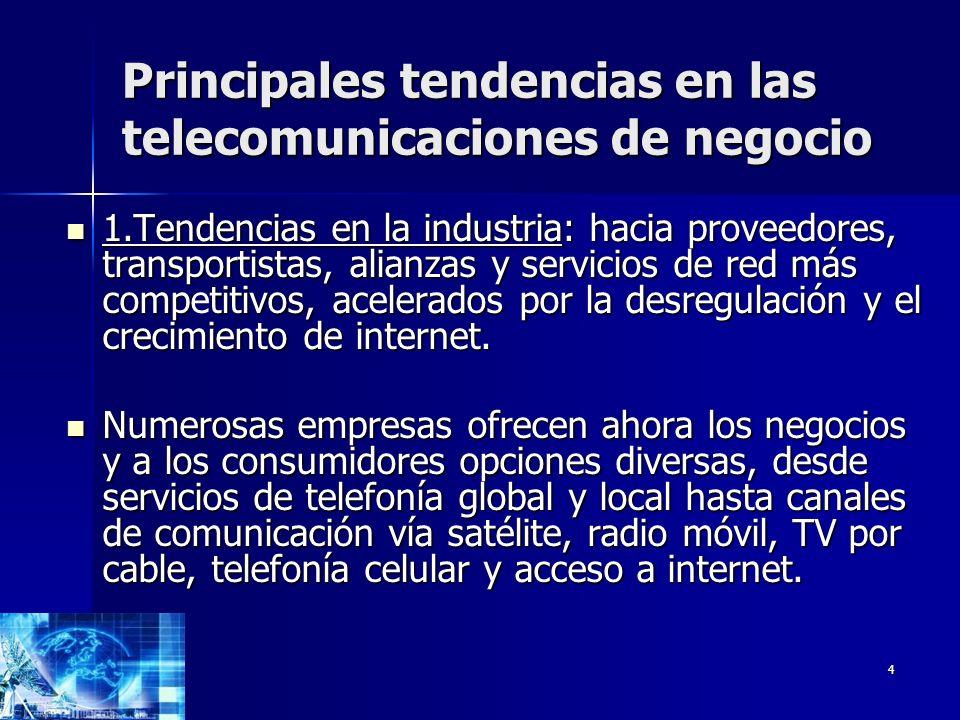Principales tendencias en las telecomunicaciones de negocio