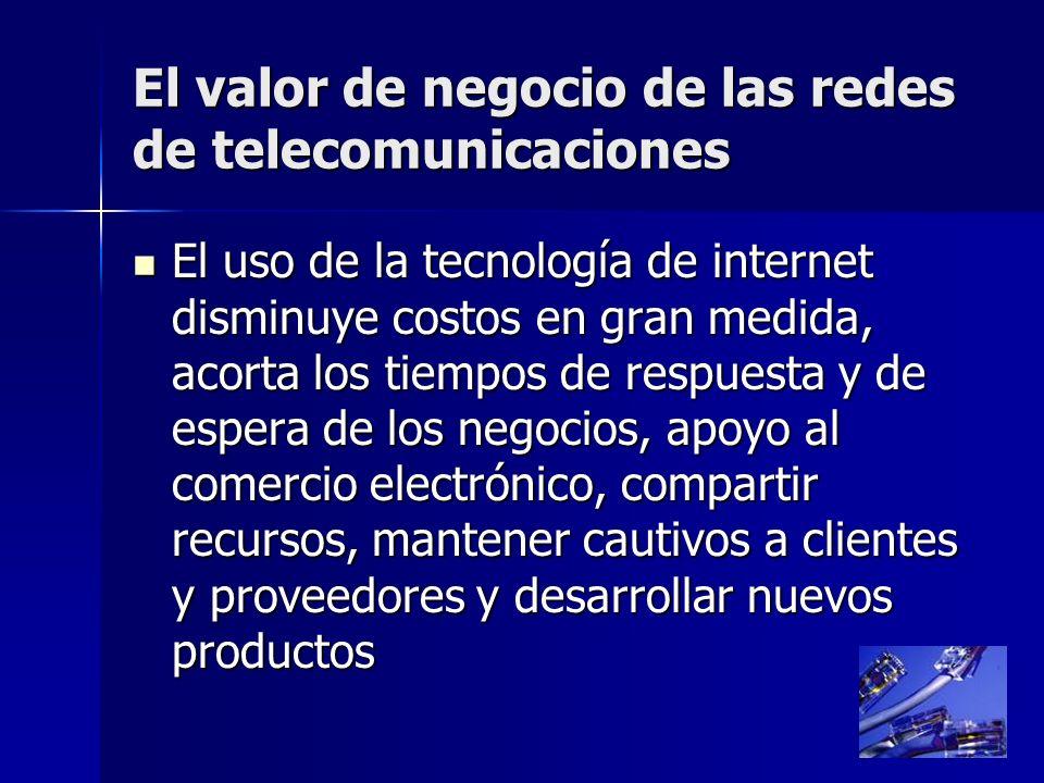 El valor de negocio de las redes de telecomunicaciones