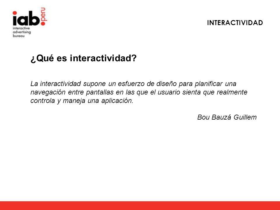 ¿Qué es interactividad