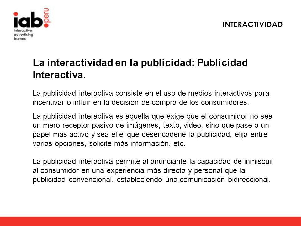 La interactividad en la publicidad: Publicidad Interactiva.