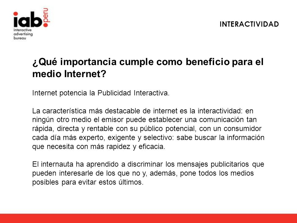 ¿Qué importancia cumple como beneficio para el medio Internet