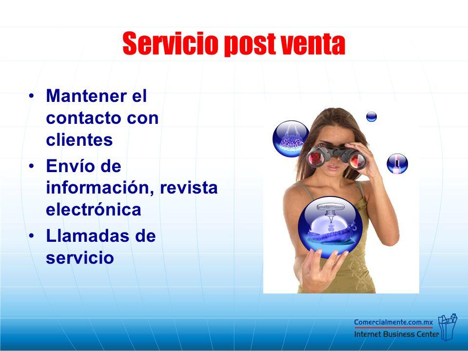 Servicio post venta Mantener el contacto con clientes