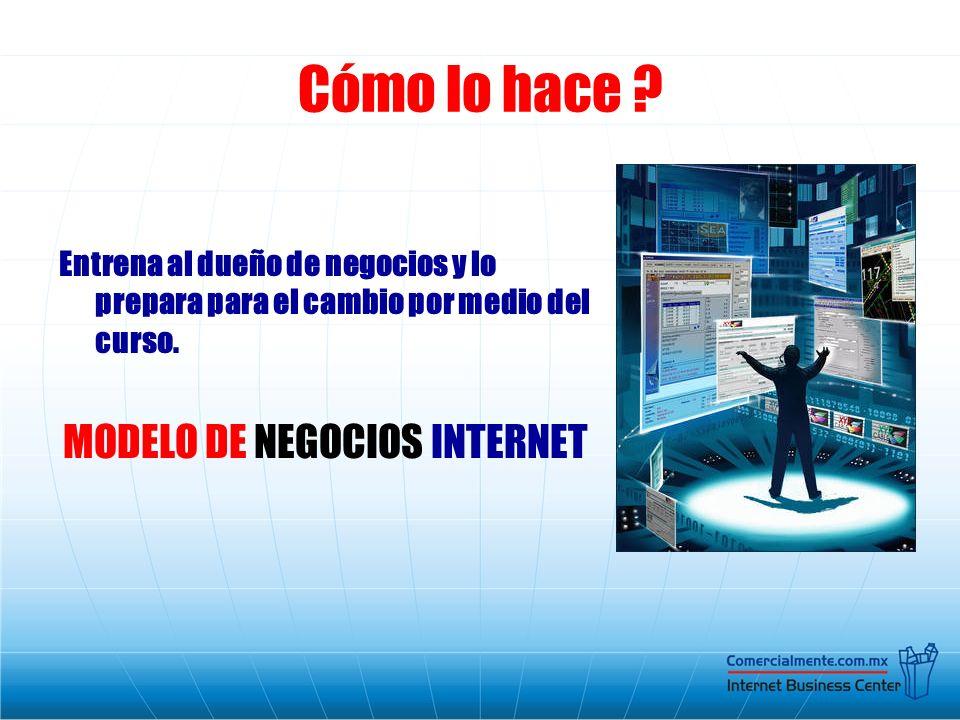 MODELO DE NEGOCIOS INTERNET