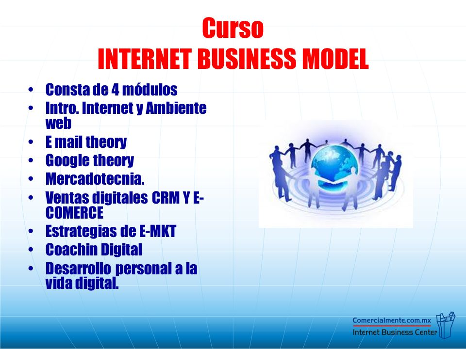 Curso INTERNET BUSINESS MODEL