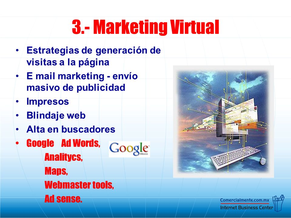 3.- Marketing Virtual Estrategias de generación de visitas a la página