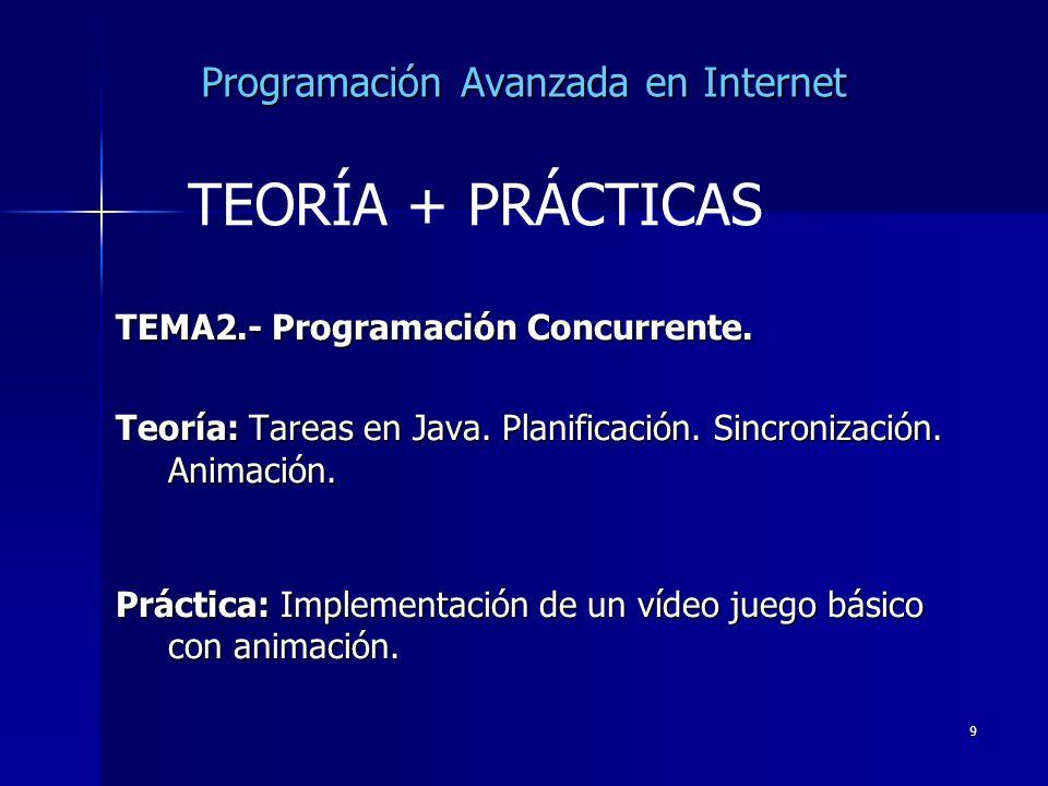 Programación Avanzada en Internet