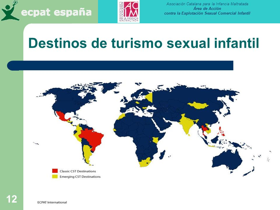 Destinos de turismo sexual infantil