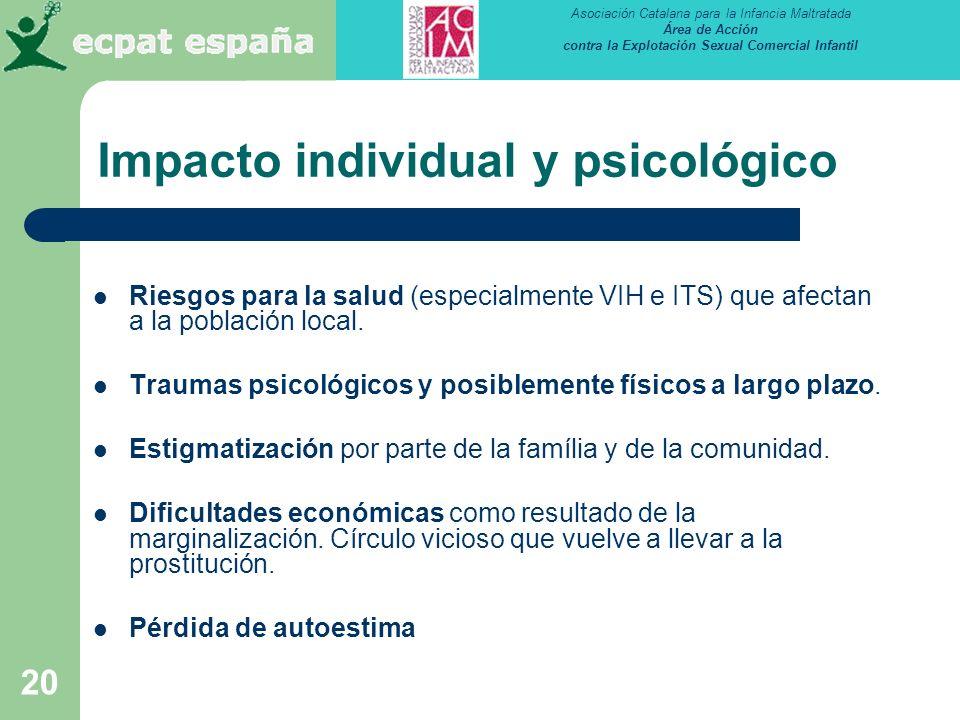 Impacto individual y psicológico
