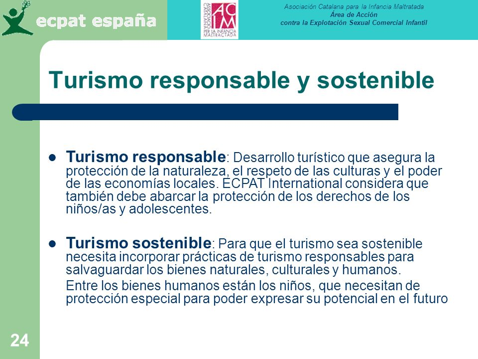 Turismo responsable y sostenible