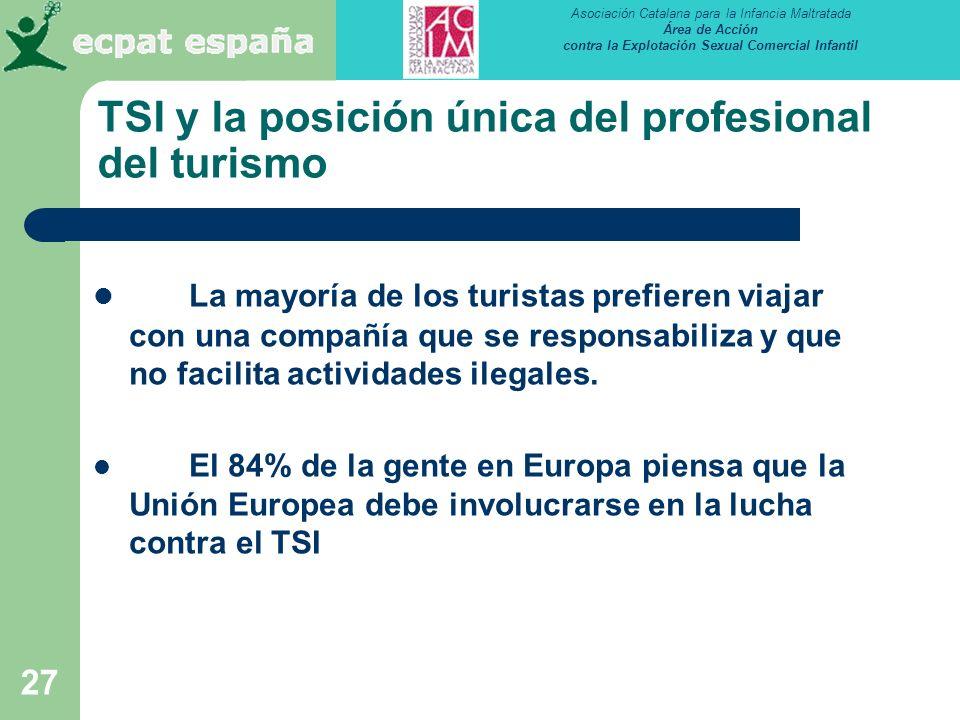 TSI y la posición única del profesional del turismo