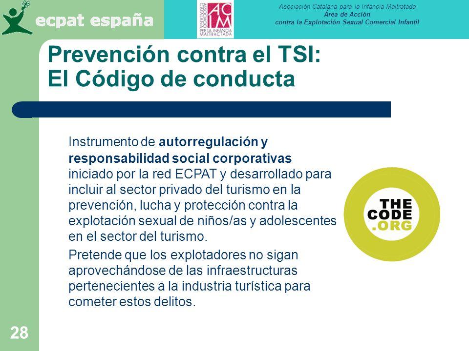 Prevención contra el TSI: El Código de conducta