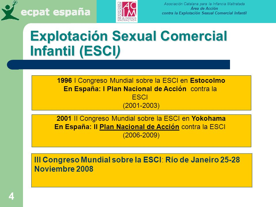 Explotación Sexual Comercial Infantil (ESCI)