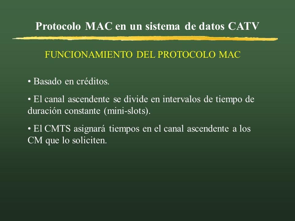 Protocolo MAC en un sistema de datos CATV