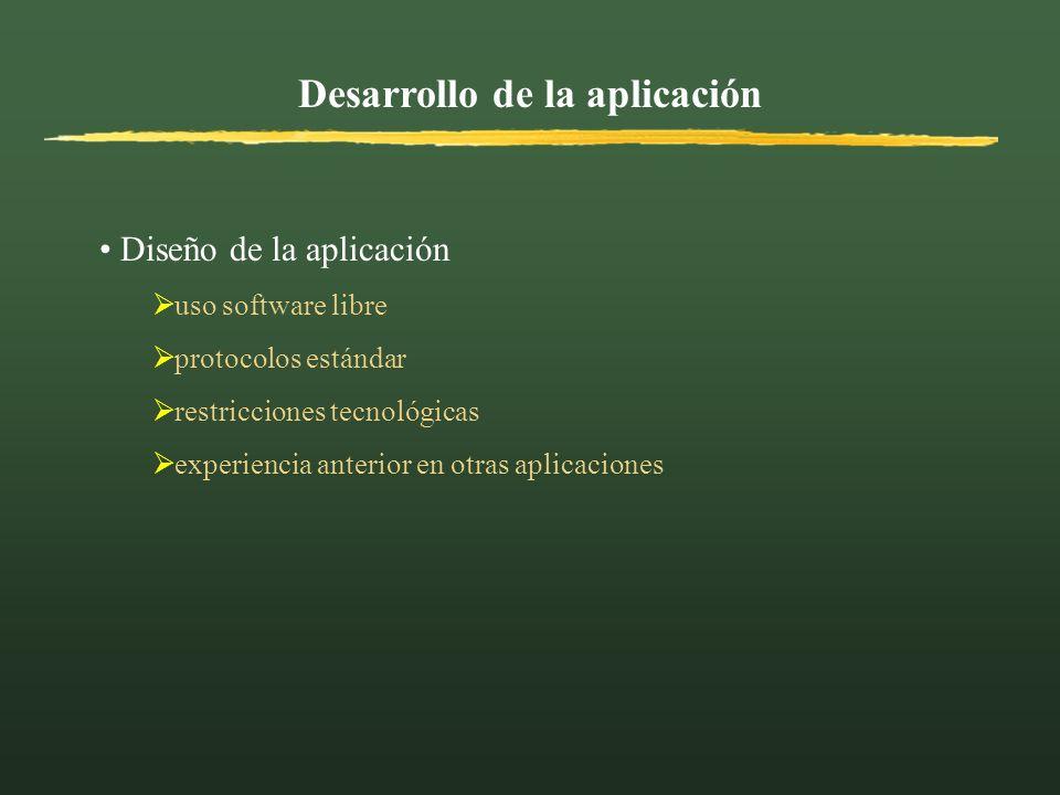 Desarrollo de la aplicación