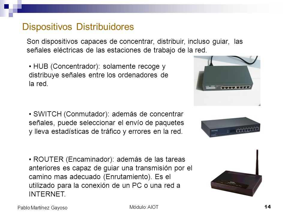 Dispositivos Distribuidores