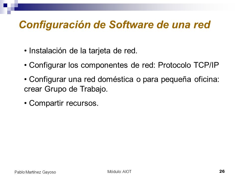 Configuración de Software de una red