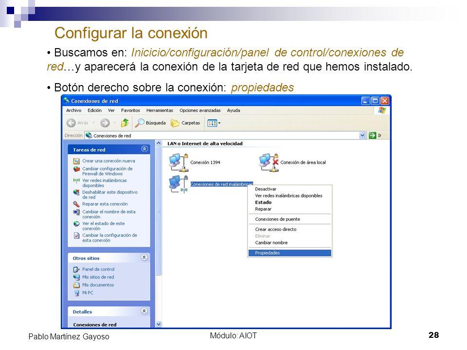 Configurar la conexión