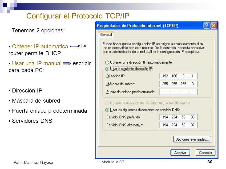 Configurar el Protocolo TCP/IP