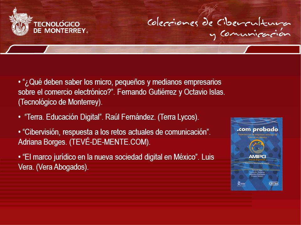¿Qué deben saber los micro, pequeños y medianos empresarios sobre el comercio electrónico . Fernando Gutiérrez y Octavio Islas. (Tecnológico de Monterrey).