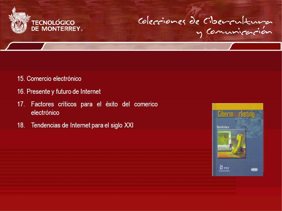 15. Comercio electrónico 16. Presente y futuro de Internet. Factores críticos para el éxito del comerico electrónico.