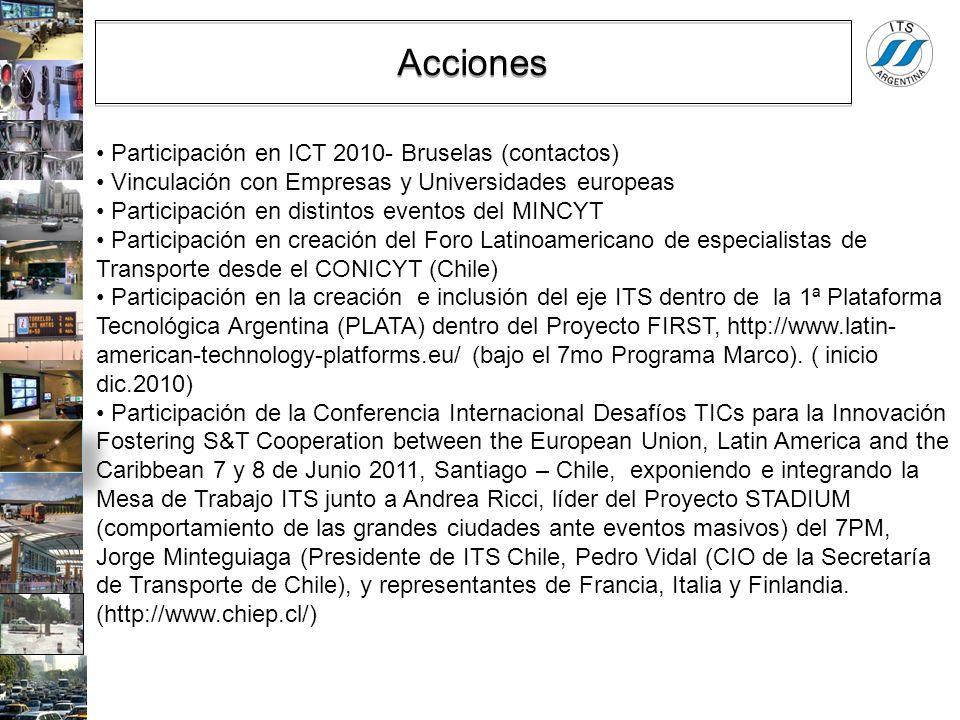 Acciones Participación en ICT 2010- Bruselas (contactos)