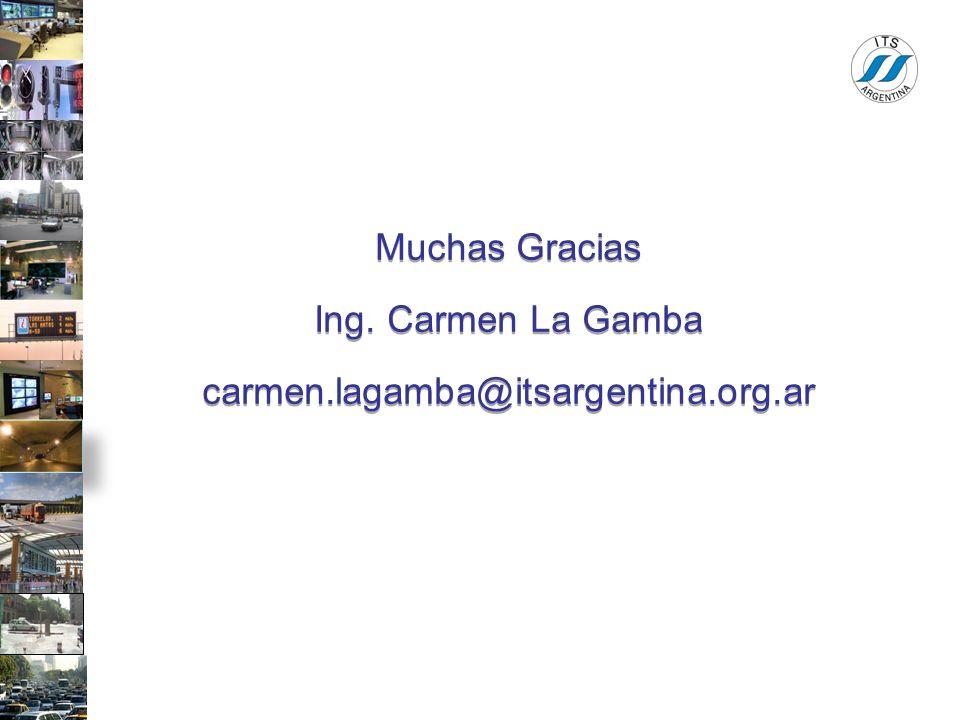 Muchas Gracias Ing. Carmen La Gamba carmen.lagamba@itsargentina.org.ar