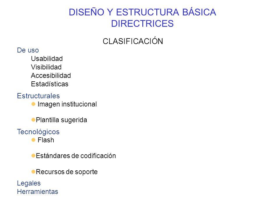 DISEÑO Y ESTRUCTURA BÁSICA DIRECTRICES