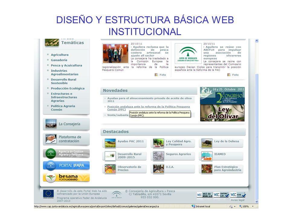 DISEÑO Y ESTRUCTURA BÁSICA WEB INSTITUCIONAL