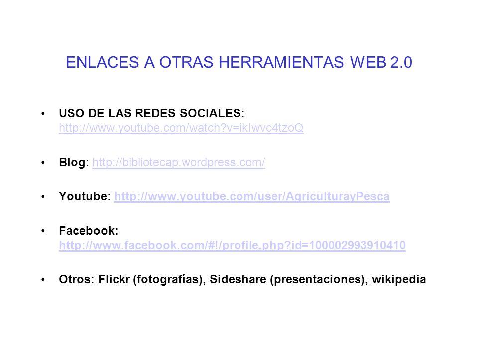 ENLACES A OTRAS HERRAMIENTAS WEB 2.0