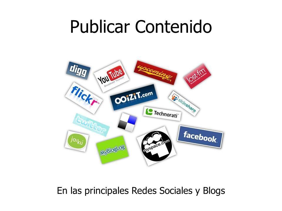 En las principales Redes Sociales y Blogs