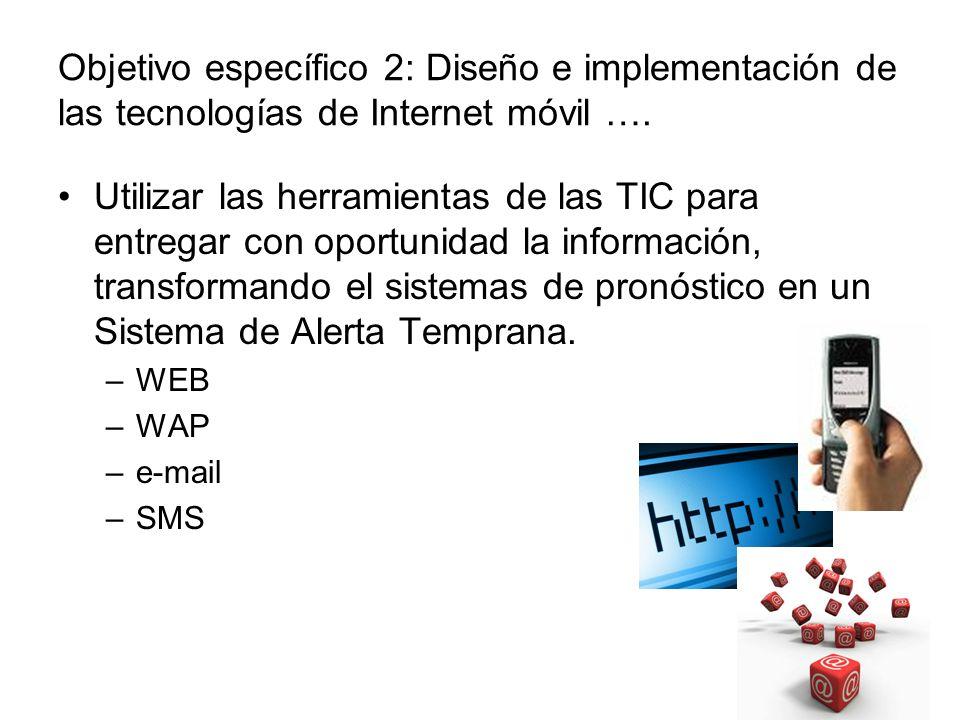 Objetivo específico 2: Diseño e implementación de las tecnologías de Internet móvil ….