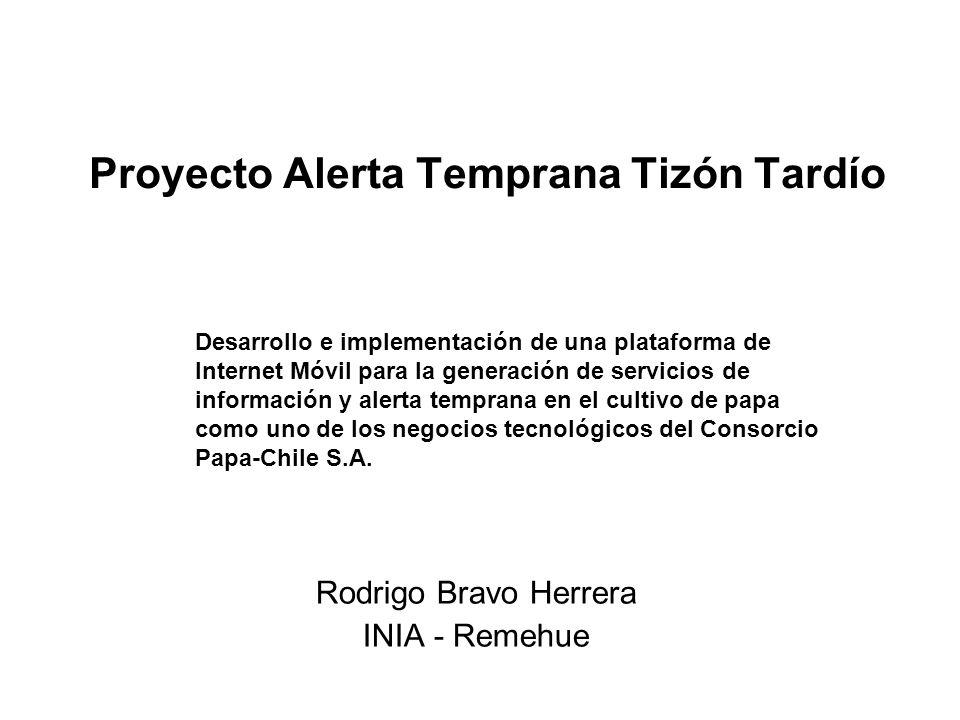 Proyecto Alerta Temprana Tizón Tardío