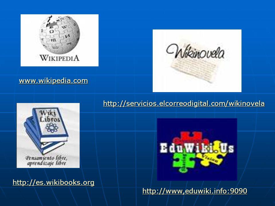 www.wikipedia.com http://servicios.elcorreodigital.com/wikinovela.