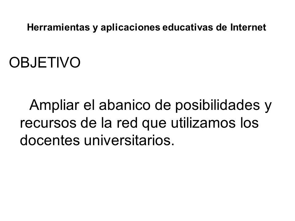 Herramientas y aplicaciones educativas de Internet