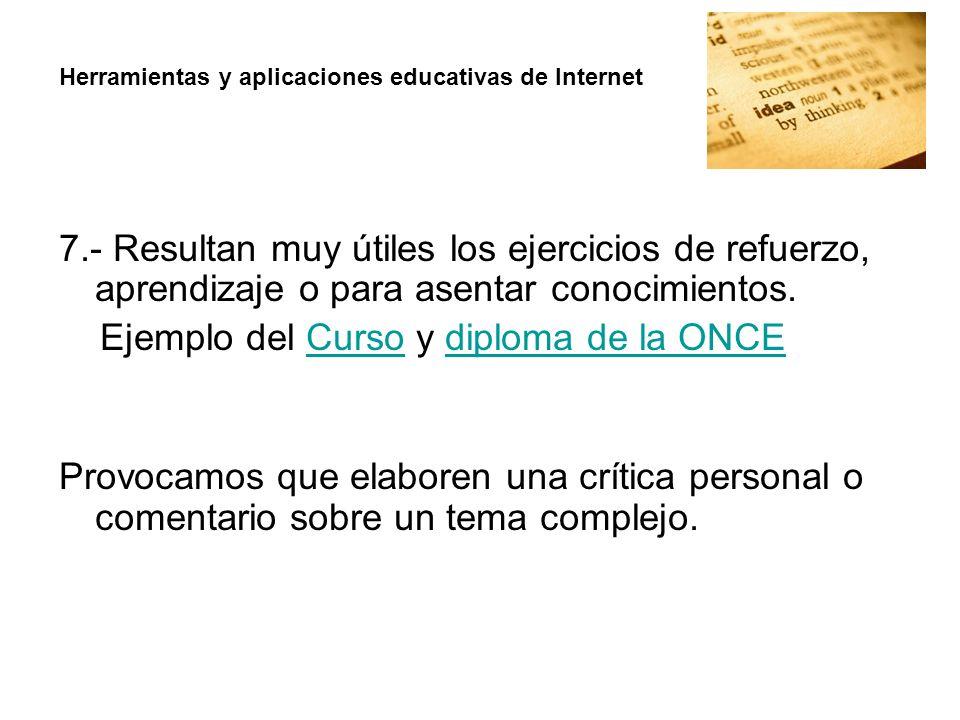 Ejemplo del Curso y diploma de la ONCE