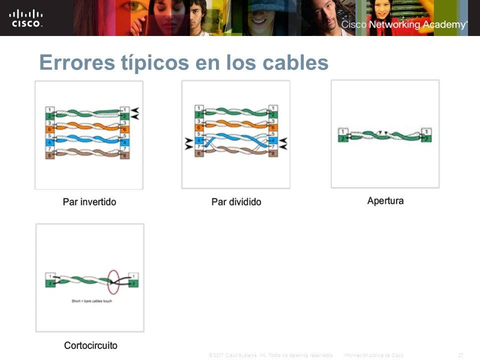 Errores típicos en los cables