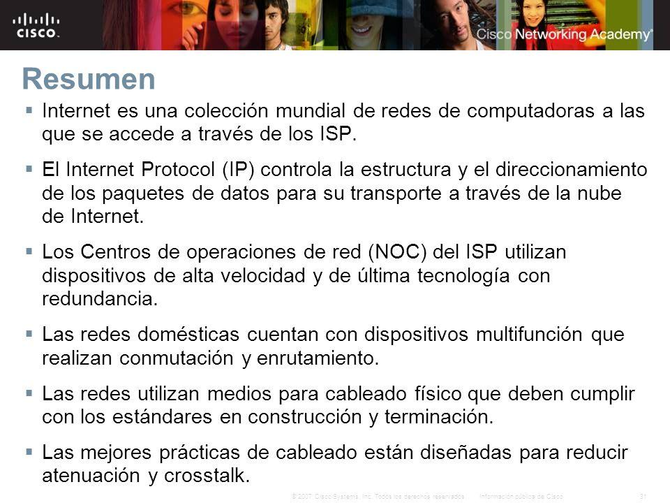 Resumen Internet es una colección mundial de redes de computadoras a las que se accede a través de los ISP.