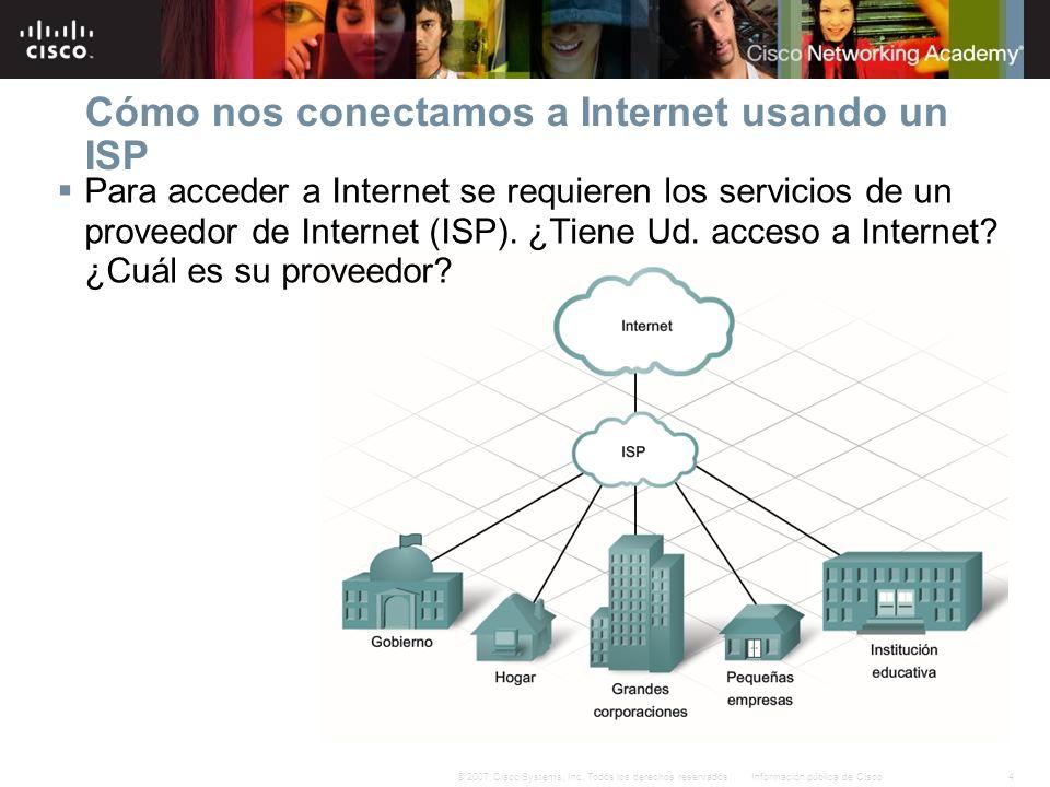 Cómo nos conectamos a Internet usando un ISP