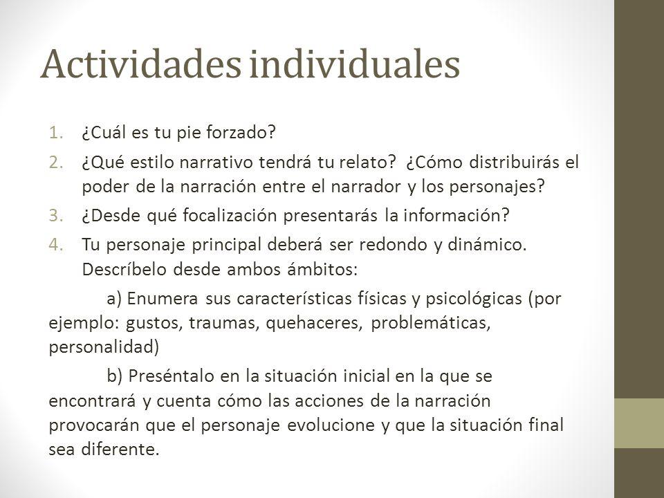 Actividades individuales