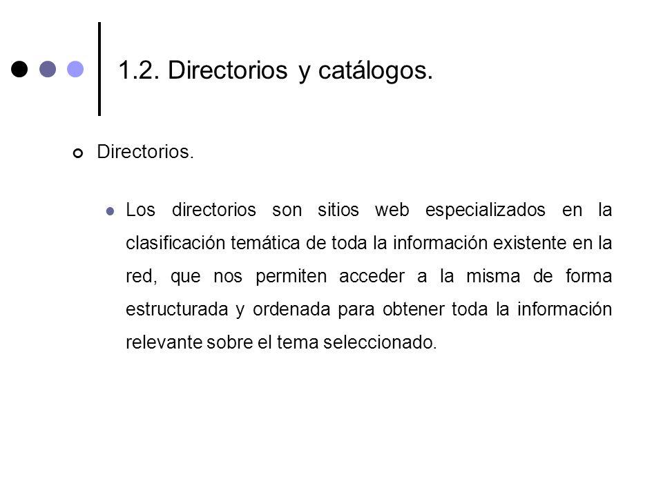 1.2. Directorios y catálogos.