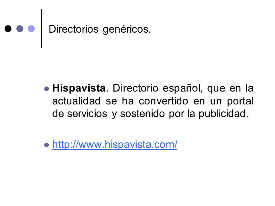 Directorios genéricos.